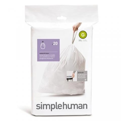 Sacs poubelle sur-mesure Code G 30 L X 20 SIMPLEHUMAN CW0166