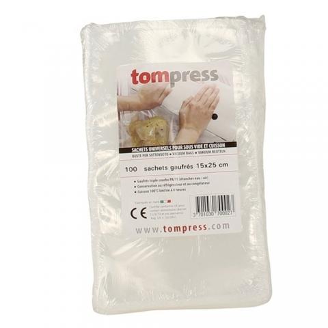 Sacs sous-vide gaufrés 15 X 25 CM par 100 TomPress ACCESS