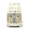 Machine à café filtre années 50' Crème SMEG DCF02CREU