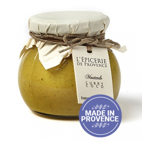 Moutarde aromatisée curry-coco 190 G L'EPICERIE DE PROVENCE
