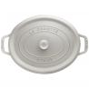 Cocotte ovale en fonte 33 CM TRUFFE BLANCHE Staub