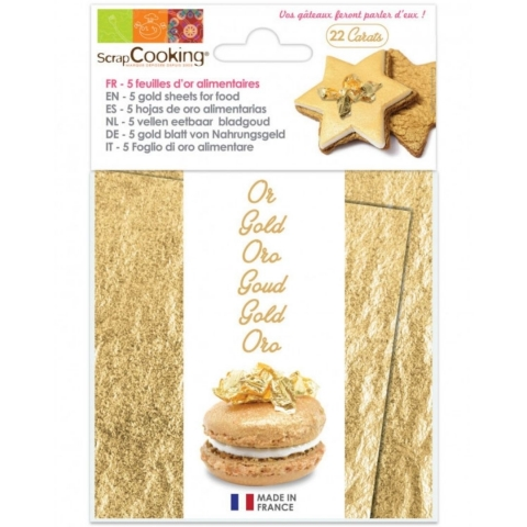 Carnet 5 feuilles OR alimentaire