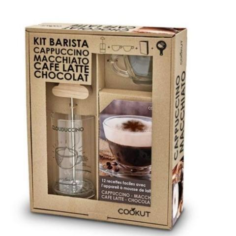 Coffret Barrista Mousseur à lait Cookut