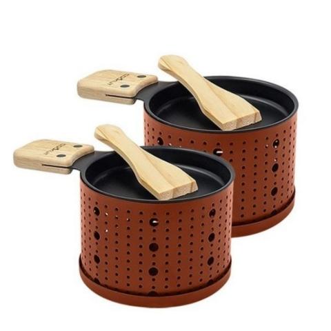 Raclette à la bougie pour 2 COOKUT couleur rouge