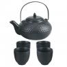Service à thé 5pièces (théière fonte+4 tasses) fonte