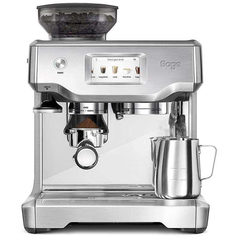 the Barista Touch - expresso & broyeur - SAGE - SES880BSS4EEU1 face