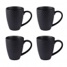Coffret 4 mugs snow noir mat 35cl