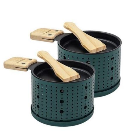 Raclette à la bougie pour 2 COOKUT couleur verte