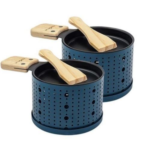 Raclette à la bougie pour 2 COOKUT couleur bleu