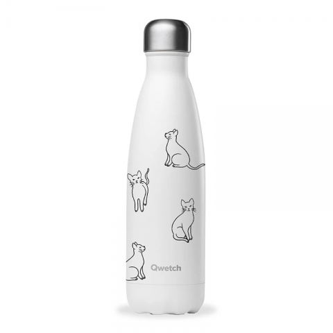 Bouteille isotherme Cats 500 ML QWETCH QD3373