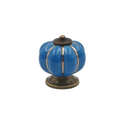 Poignée cocotte citrouille bleu COOKUT MJCP09