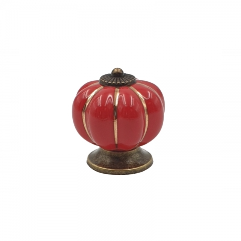 Poignée cocotte citrouille rouge COOKUT MJCP11