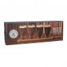 Set 4 verres à bière + planche en bois EARLSTREE&CO-1