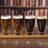 Set 4 verres à bière + planche en bois EARLSTREE&CO-2