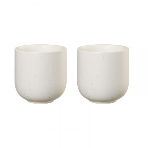 Lot de tasses sencha crème x2 ASA-1