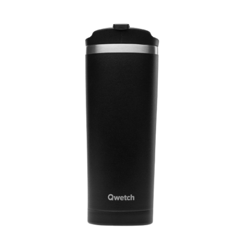 Mug isotherme noir 470 ML QWETCH QM6001