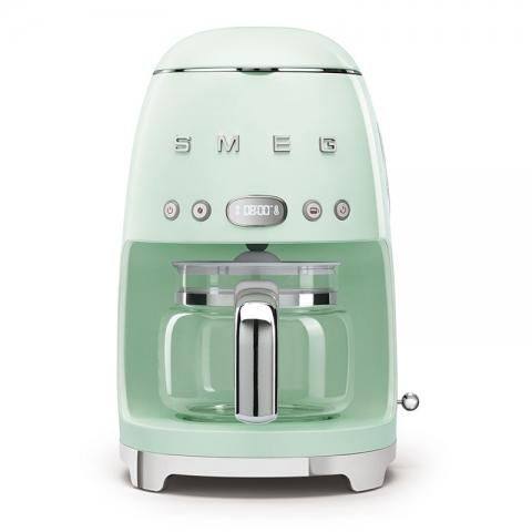 Machine à café filtre années 50' Vert d'eau SMEG DCF02PGEU