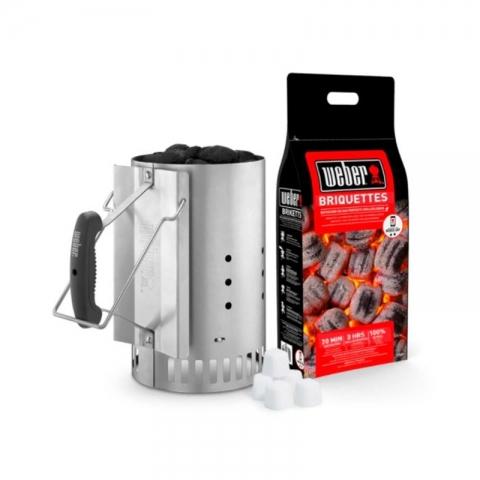 Kit allumage BBQ briquette et allume feu WEBER 019076