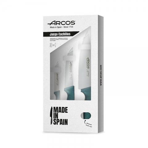 Coffret 3 couteaux polypro bleu ARCOS