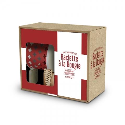 Coffret Croix raclette à la bougie pour 2 COOKUT
