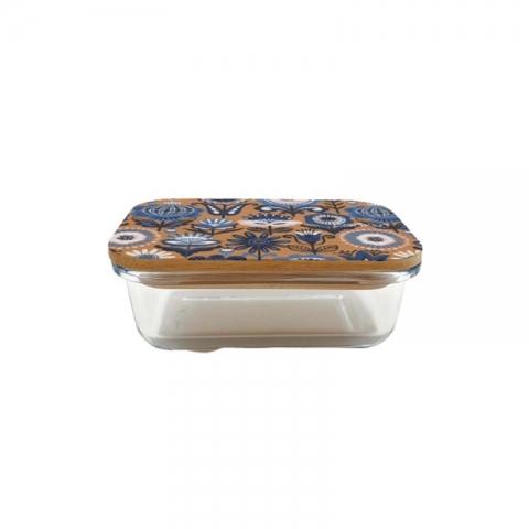 Boîte en verre et bambou 0.37 L Fleur COOKUT BC1P
