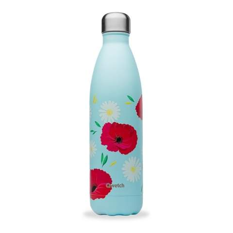 Bouteille isotherme Coquelicot 750 ML QWETCH QD3460