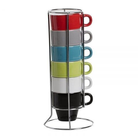 6 Tasses à Expresso 5cl Colorama sur rack ACCESS