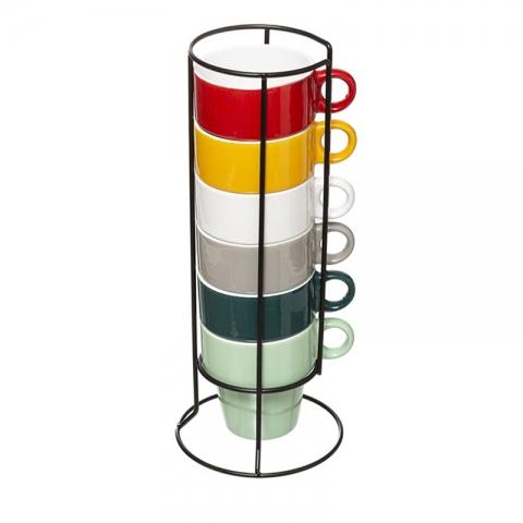 6 Tasses 26cl Colorama sur rack ACCESS