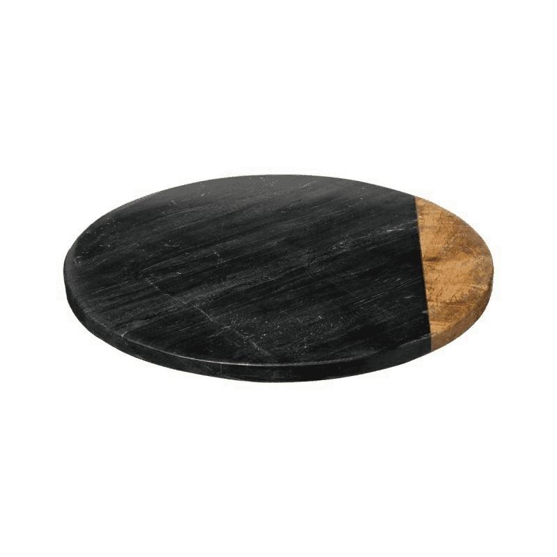 Plateau tournant effet marbré noir 30cm ACCESS