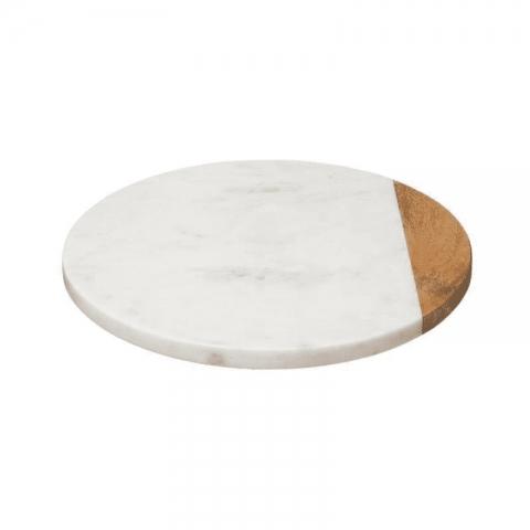 Plateau tournant effet marbré blanc 30cm ACCESS-3