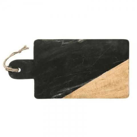 Planche de présentation rectangulaire effet marbré noir 15cm x 30cm ACCESS-1