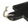 Planche de présentation rectangulaire effet marbré noir 15cm x 30cm ACCESS-3