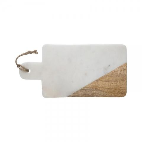 Planche de présentation rectangulaire effet marbré blanche 15cm x 30cm ACCESS