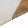 Planche de présentation rectangulaire effet marbré blanche 15cm x 30cm ACCESS-1