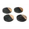 Dessous de verre x4 effet marbre noir ACCESS-1