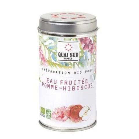 Eau fruitée Pomme Hibiscus Bio QUAI SUD