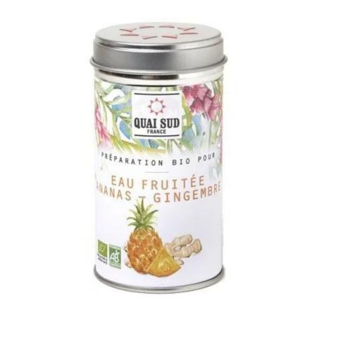 Eau fruitée Ananas & Gingembre Bio QUAI SUD