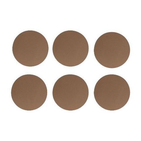 Dessous de verre x6 Ténor camel aspect cuir ACCESS