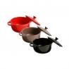 Cocotte ronde 10cm Rouge/Taupe/Noir ACCESS-1