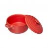 Cocotte ronde 10cm Rouge/Taupe/Noir ACCESS-5