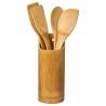 Porte ustensile + 4 ustensiles en bois ACCESS