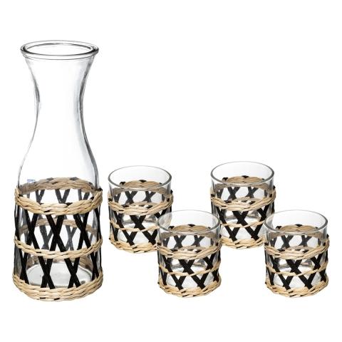 Carafe Amazonie + 4 verres SECRET DE GOURMET 154839