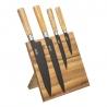 Bloc couteaux aimanté acacia + 4 pièces ACCESS
