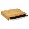 Planche à découper avec tiroir bambou 35X28cm ACCESS