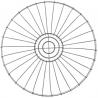 Corbeille métal GRIS 30CM 145789B