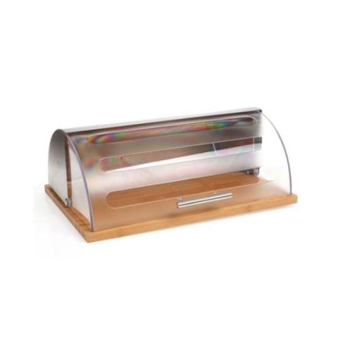 Boîte à pain inox et bambou 103601