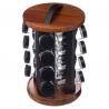 Pot à épices rotatif Acacia x16 SECRET DE GOURMET 146667
