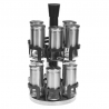 Pot à épices rotatif Inox x12 SECRET DE GOURMET 151229