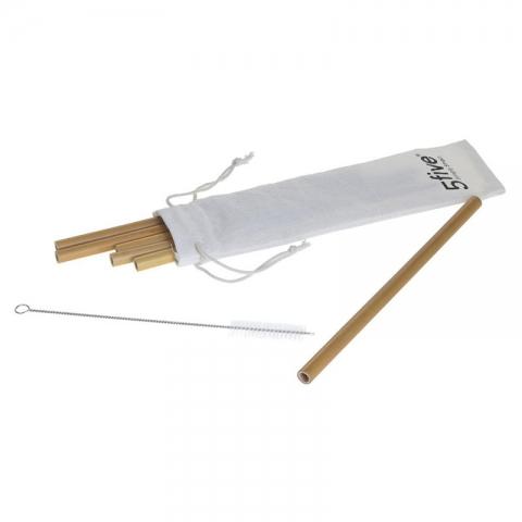 6 Pailles + 2 Accessoires Bambou 5FIVE 160660