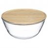Saladier en verre 2.5L avec couvercle en bambou ACCESS